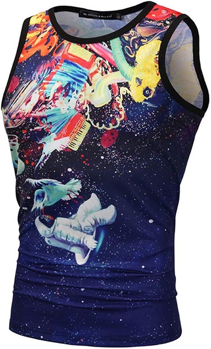 KUKICAT D/ébardeur Homme Musculation Sport Fitness Gym Funky Chemise Hawa/ïenne D/ébardeur Homme Motif 3D Imprim/é /Ét/é Casual Gilet T-Shirt sans Manches Haute Tank Tops Chemise Hawaienne /à Fleurs Vest