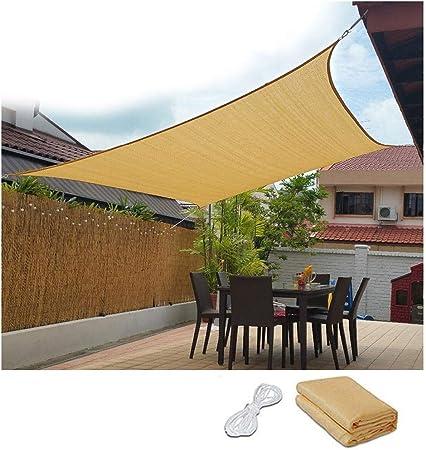 CF-sombra 16 X 10 Toldo Vela, Rectangle 95% UV UV Block 185GSM Shade Sail Shade Paño para Exterior Shade Block Patio Jardín Instalaciones Y Actividades Shade Sunblock Shade Net, Varios Tamaños: Amazon.es: