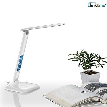 Dimmbar 12W 800lm LED Schreibtischlampe Tischleuchte Nachtischlampe Kaltweiß