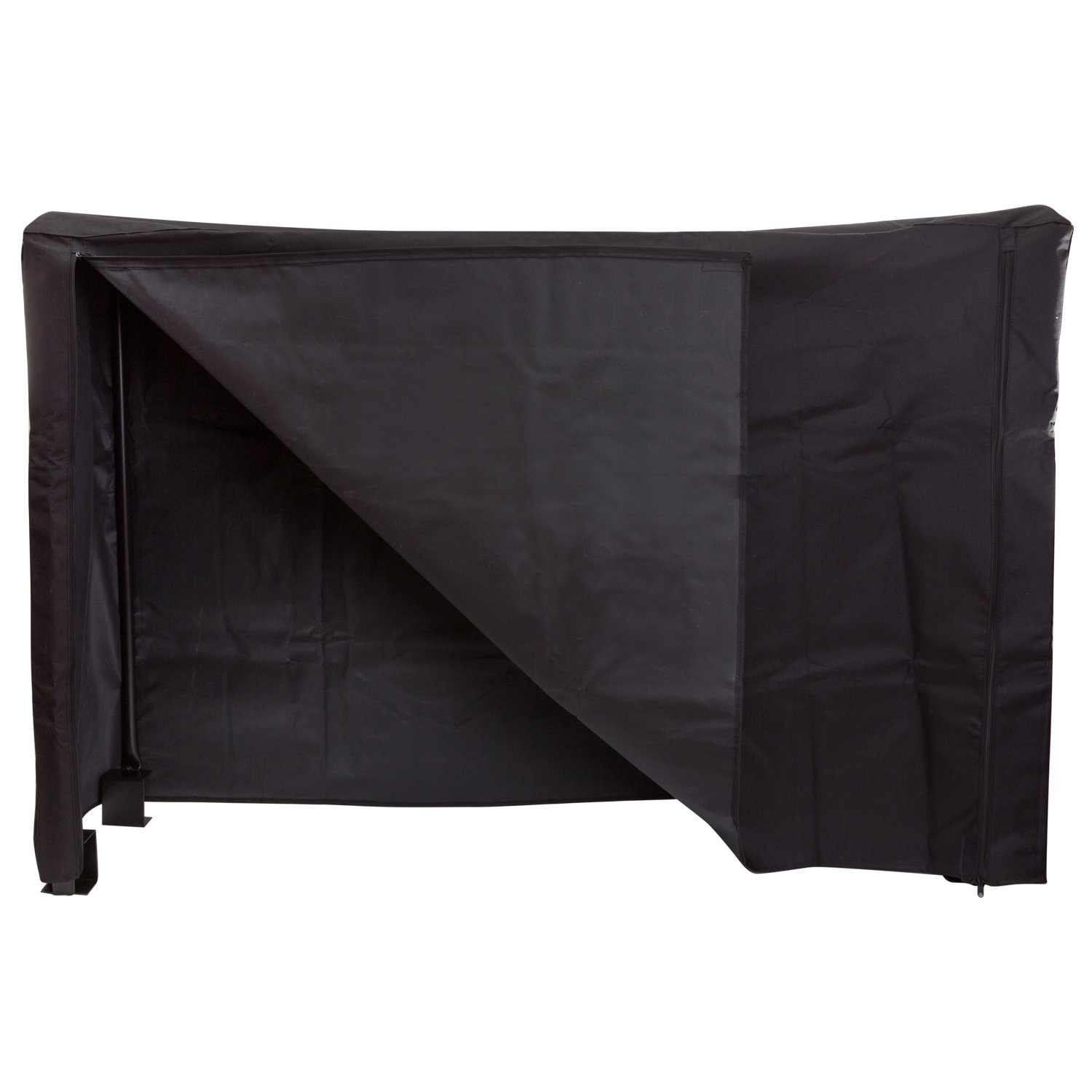 DOEWORKS 4 Feet Firewood Cover Log Wood Storage Rack Cover with Magic Tape, Fireplace Accessories, Black HY-FRC4