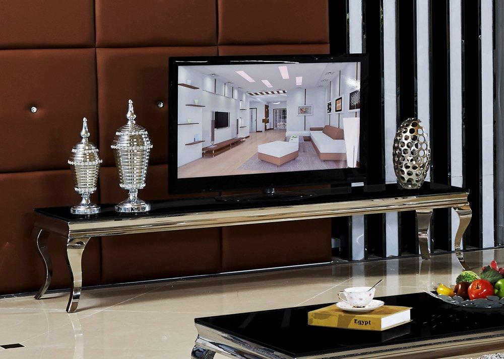 Lowboard 200 x 45 x 42 Sara schwarz Wohnzimmer TV HiFi Tisch ...