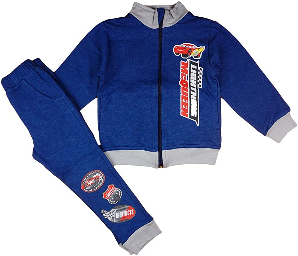 Disney Cars - Chándal para niño (2 piezas, chaqueta cálida para otoño, invierno, ideal para 92, 98, 104, 110, 116, 122, 128)