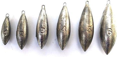 BEACH BOMB LEAD FISHING WEIGHTS   1 oz x TEN