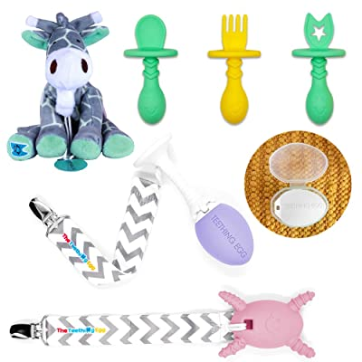 The Teething Egg - Official Product, Made in The USA – 6 Product Bundle with Lavender Egg, Pink Molar Magician, Eggware Utensils Feeding Set, Geri The Giraffe Teething Pal, Egg Shell & Grippie Stick: Toys & Games [5Bkhe0204357]