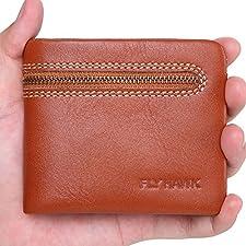 Mens RFID Blocking Small Wallets, Genuine Leather Bifold Front Pocket Slim Wallets