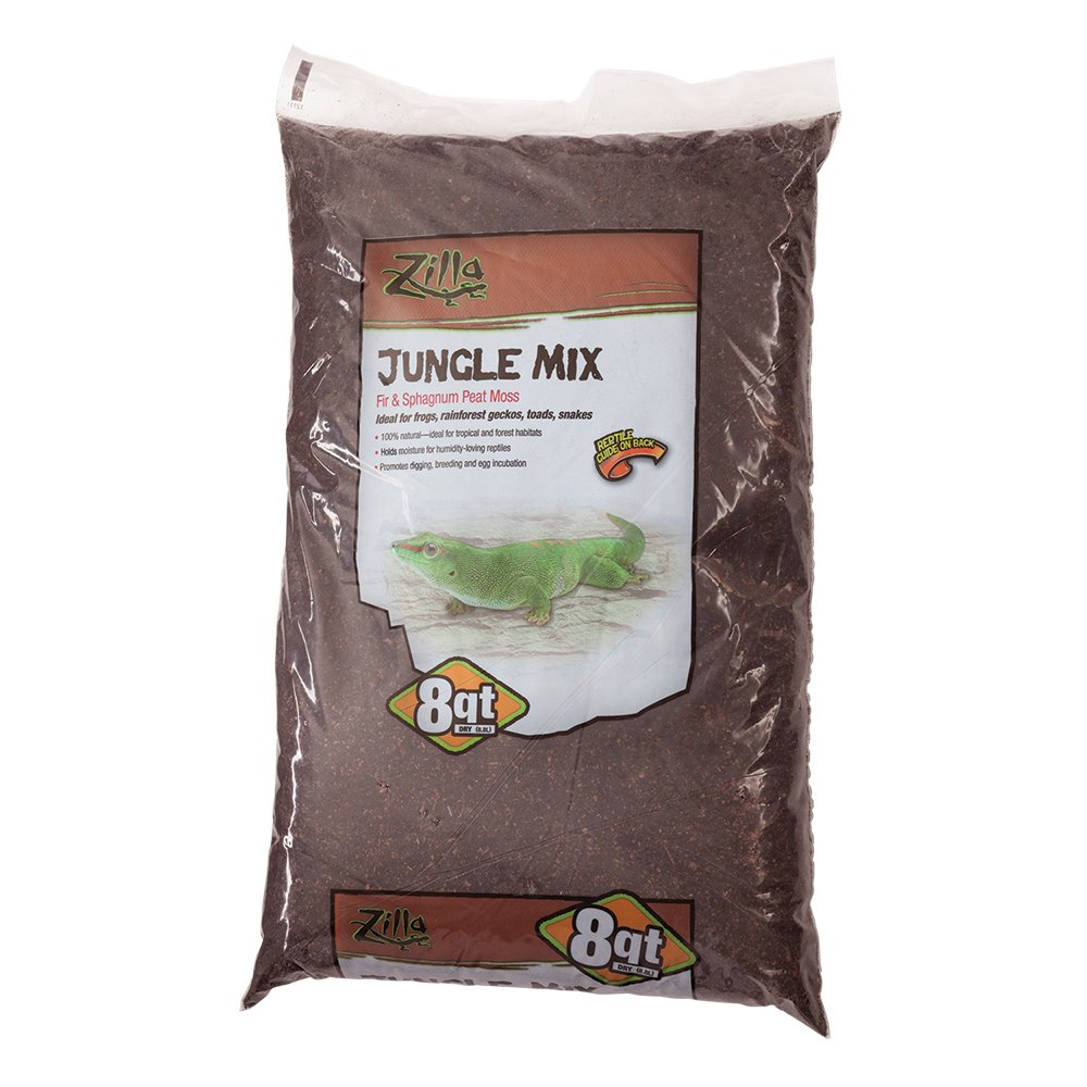 Zilla Reptile Terrarium Bedding Substrate Jungle Mix Moss & Fir 8-Qt.