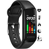 Fitness Tracker HR, Activity Fitness Trackers with Body Temperature Heart Rate Sleep Health Blood Pressure Monitor, IP68…
