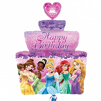 Disney Princess Birthday Cake Balloon Supershape Helium Foil Anagram