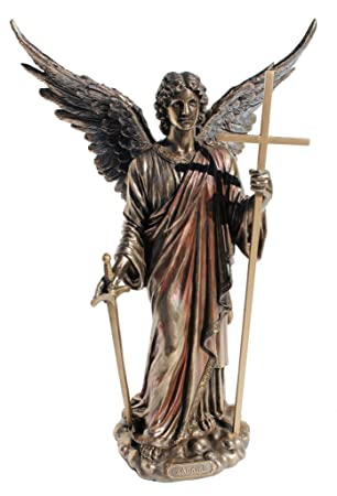 Zadkiel Archangel of Freedom, Benevolence, Mercy, and the Patron Angel of all who Forgive Statue Figurine Cold Cast Bronze