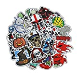 Gumind Sticker Pack 100-pcs Include Skeletons And Ghosts Pattern For Laptops Cars, Motorcycles, Bicycles, Luggage Stickers Graffiti Stickers Skateboard Stickers Hippie Stickers Bombs Waterproof