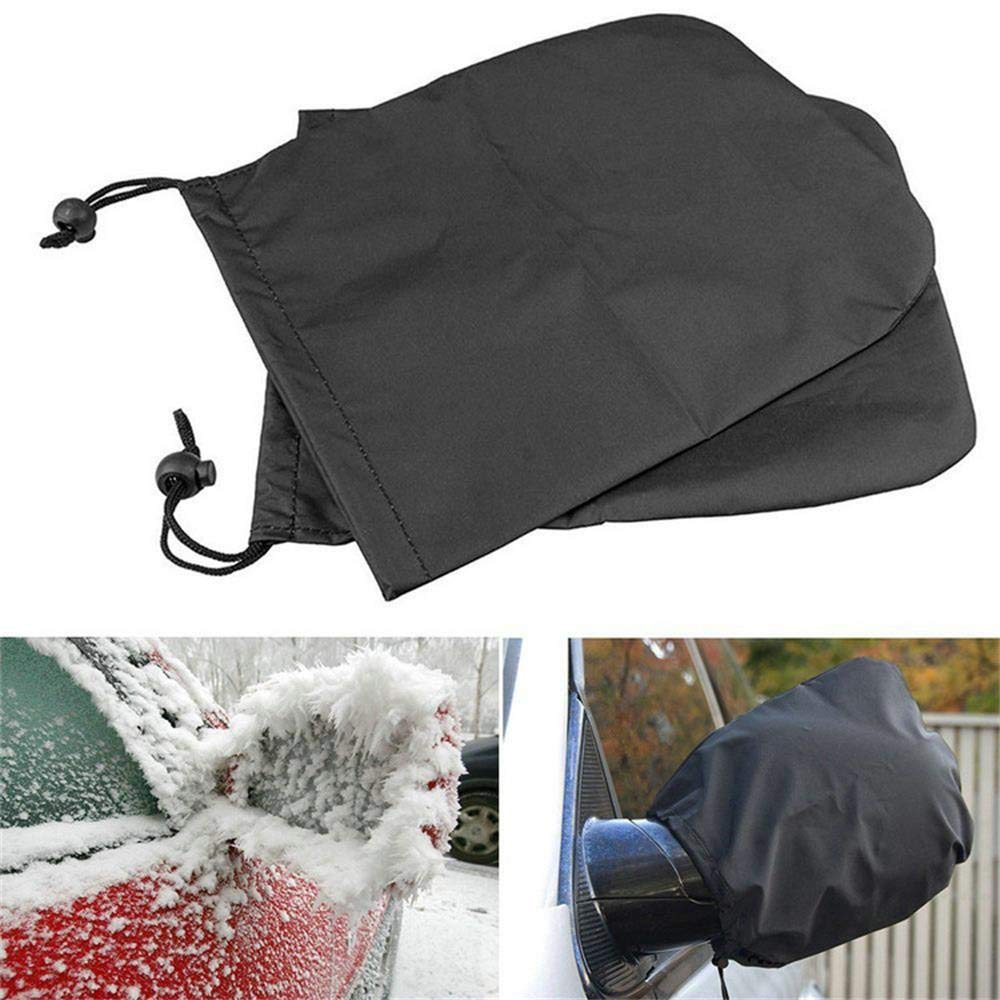 Iuhan  Side View Car Winter Snow Ice Mirror Covers, 2 Pcs Car Side Mirror Snow Covers Set Protect Auto Exterior Rear View Mirrors (Black) Iuhan ®