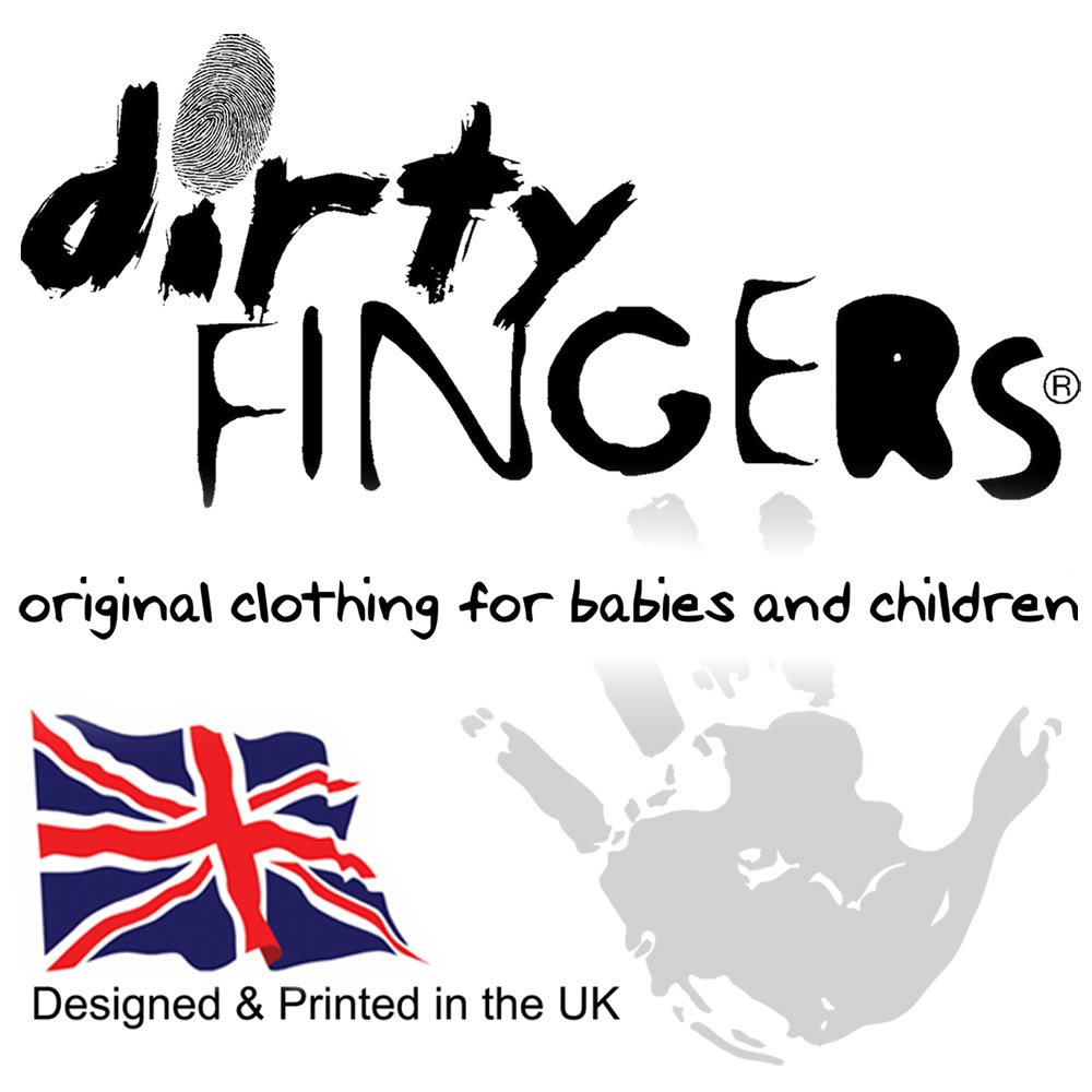 Zuk/ünftiger Rock Star Baby Skater Top lang/ärmlig Dirty Fingers