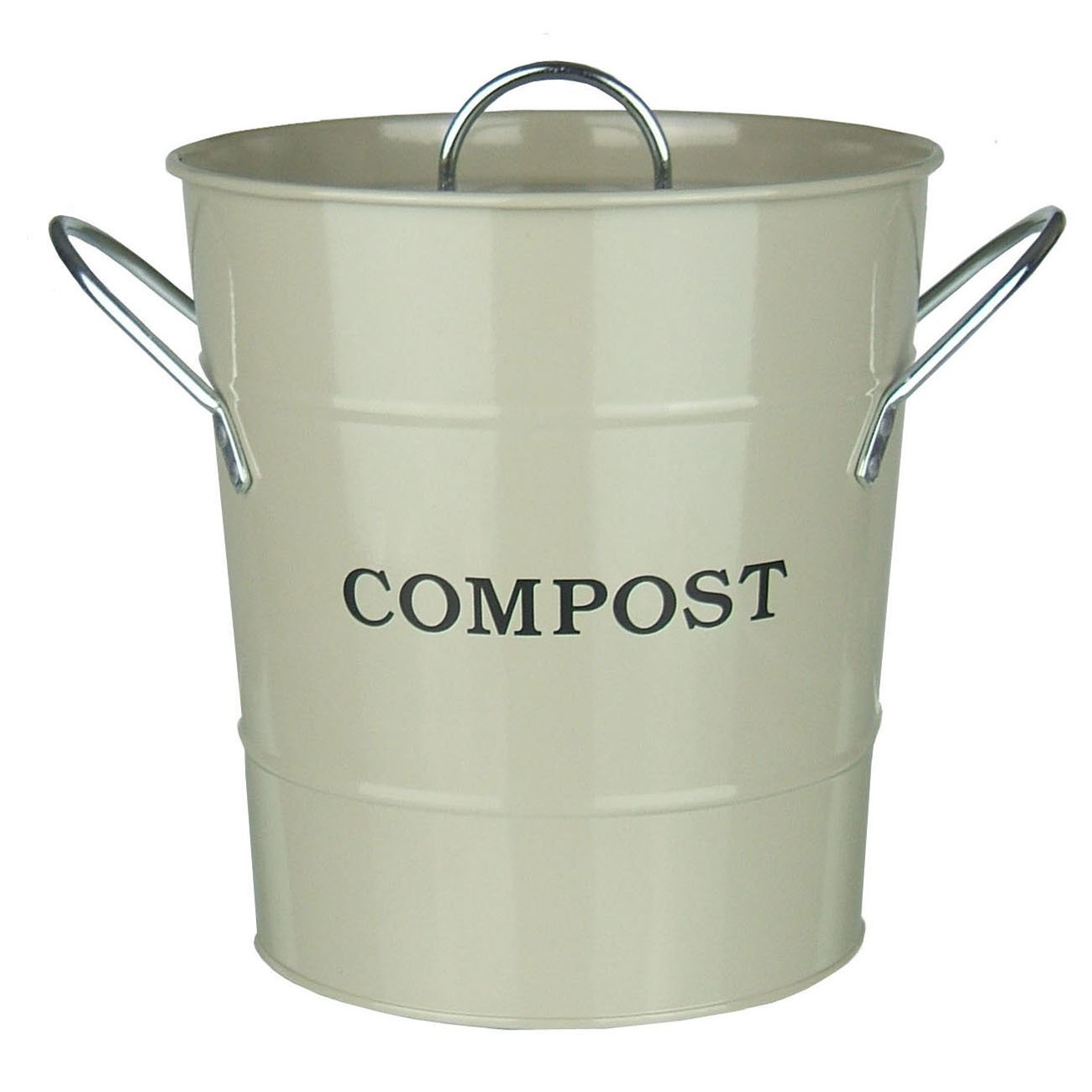 Metal Kitchen Compost Caddy (Clay Colour) U0026 Composting Guide   Composting  Bin For Food Waste Recycling: Amazon.co.uk: Kitchen U0026 Home