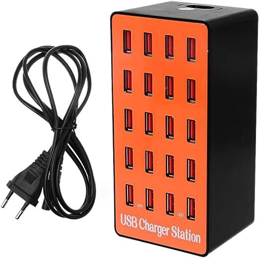JENOR - Estación de Carga rápida con 20 Puertos USB, 100 W, para ...