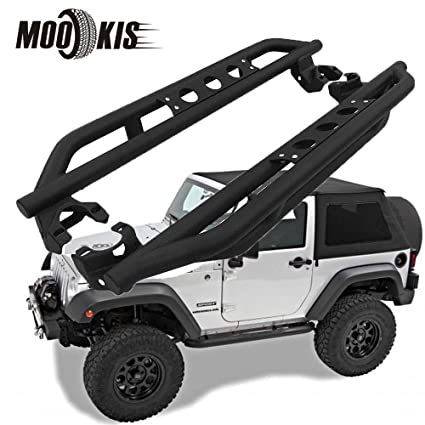 Mookis Jeep Running Boards Nerf Bars Side Steps Fit 2007 2017 Jeep JK  Wrangler 2