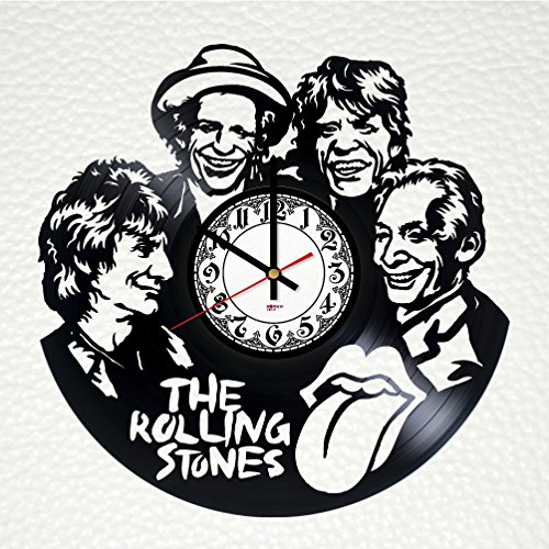 Wall clock from real vinyl Rolling Stones, rolling stones original wall poster