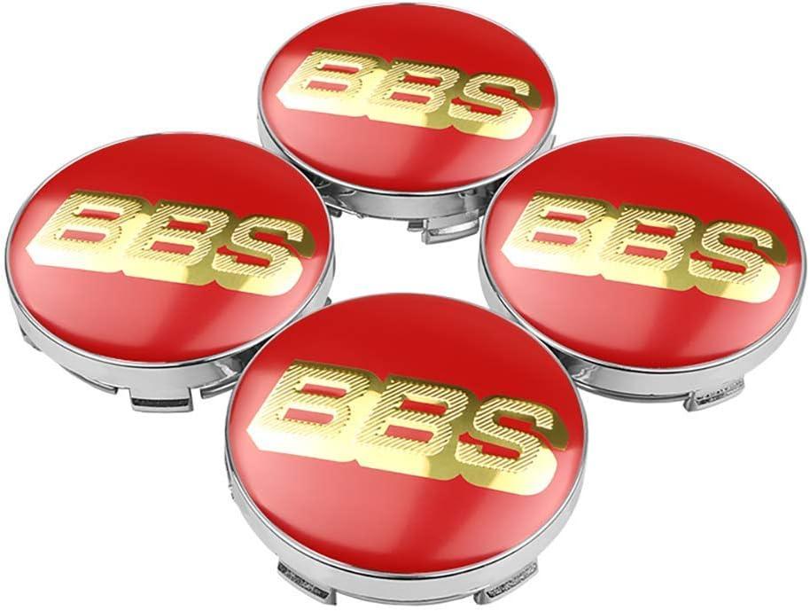 OZ6YA 4pcs 60mm BBS Auto Rad Mitte Nabenkappen Abzeichen Emblem Aufkleber Aufkleber Rad Staubdichte Abdeckungen Abzeichen Logo