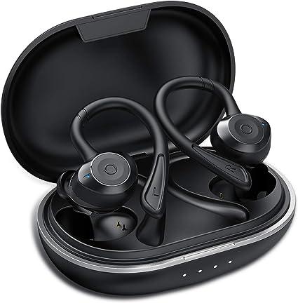 Ecouteur Bluetooth, Muzili IPX7 Écouteur sans Fil Sport Étanche 3D Hi FI Son Stéréo, Anti Bruit CVC 8.0, 80 Heures Durée de Lecture Oreillette