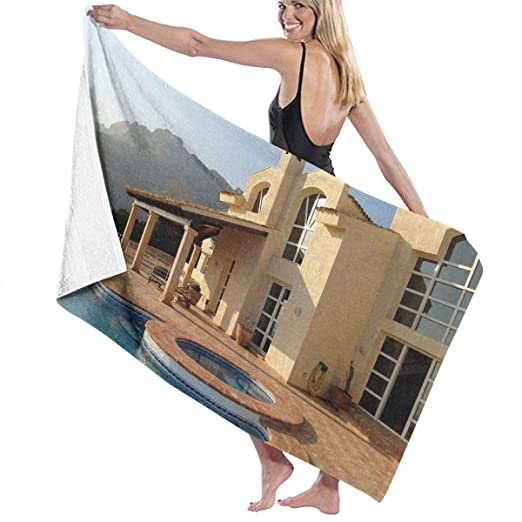 Biooker House Swimming Pool Beach Towels Polyester Quick Dry ...
