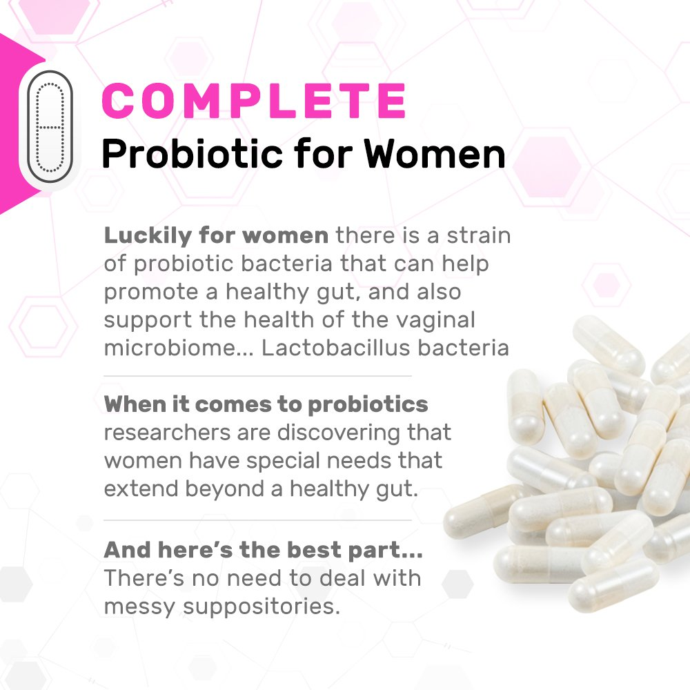 fdfbf4a64 Amazon.com: Dr. Mercola Complete Probiotics for Women - 60 caps -  Customized Probiotic Blend for Women's Health Needs - Lactobacillus  Rhamnosus, Acidophilus ...