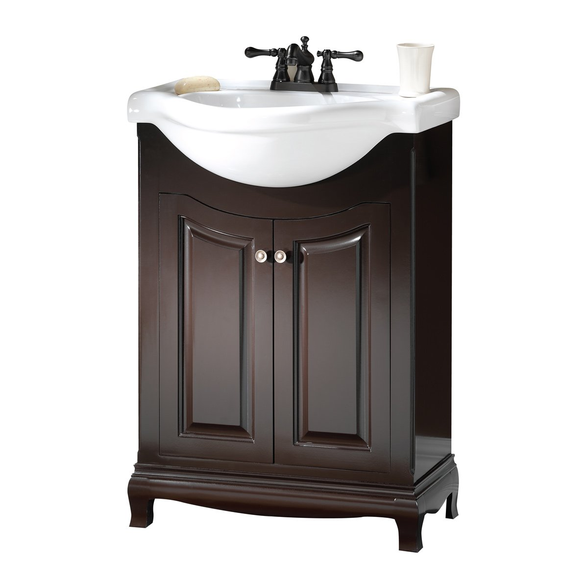 Foremost PAEA2534 Palermo Euro Bath Vanity with China Top - Bathroom ...