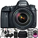 Canon EOS 6D Mark II DSLR Camera with Canon EF 24-105mm f/4L IS II USM Lens - International Version (No Warranty) Includes 3PC Filter Kit + Full-Size 72 Tripod + Medium Carrying Case & More!