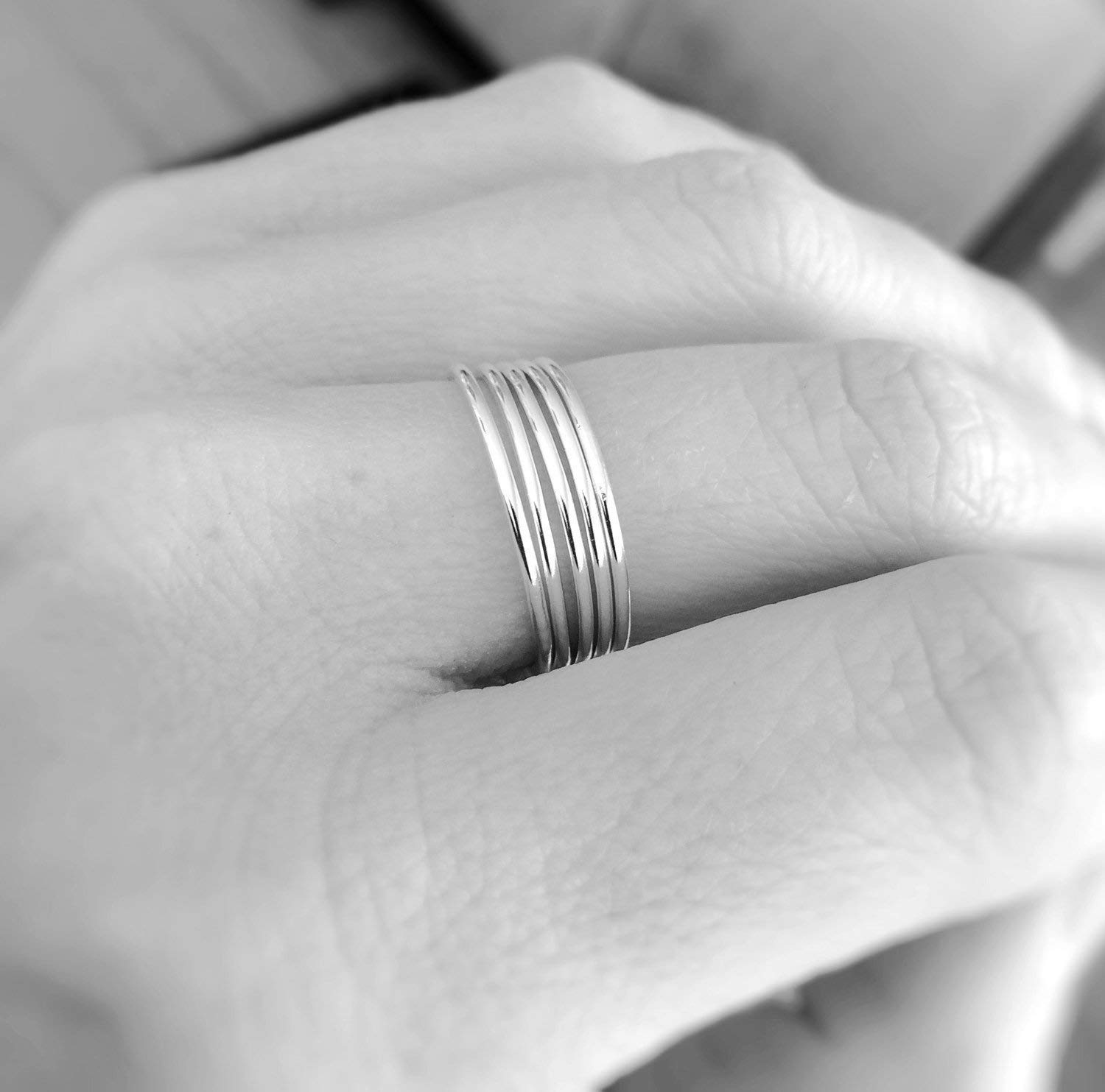 1 Smooth Slim Gold Stacking Ring,Knuckle, or Thumb Rings,Gold Rings,Stacking Rings,Knuckle Rings,Skinny Rings,Thin Rings, Slim Ring