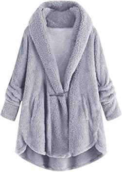 Women Button Casual Hoodie Fall Overcoat Loose Stylish Long Jacket Coat One Size