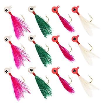 50 PCS Lures 1/16 oz 1/8 1/4 oz Lead Jig Heads Fishing hooks Crappie Fishing Baits, Lures & Flies