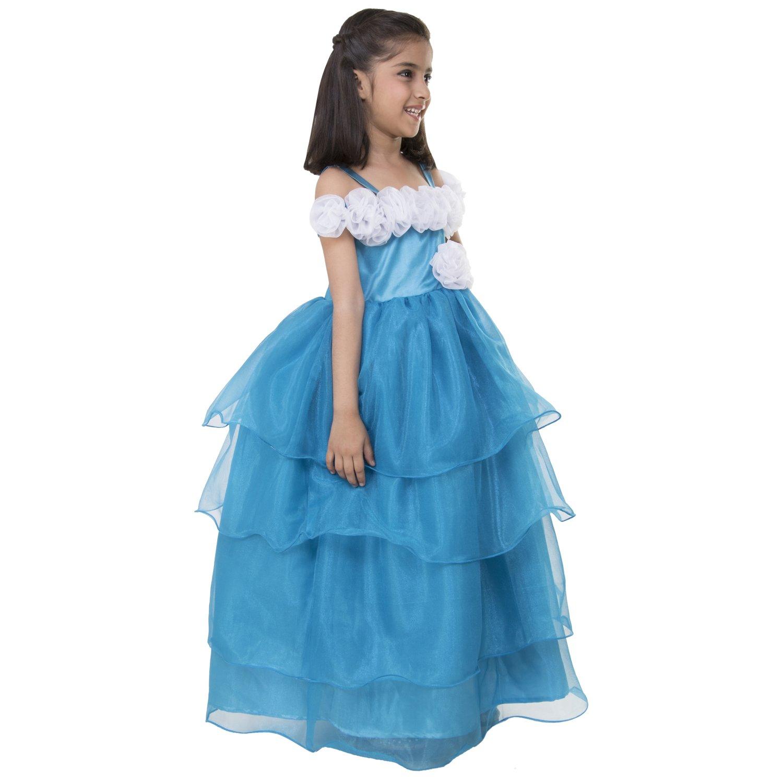 Samsara Couture Baby girls Frozen Elsa party wear gown tourquoise ...