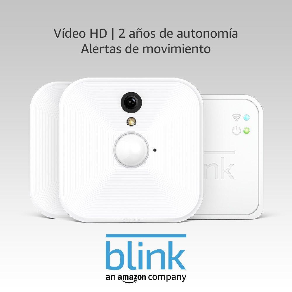 Blink Sistema de cámaras de seguridad para interiores con detección de movimiento, vídeo HD, 2 años de autonomía y almacenamiento en el Cloud - 2 cámaras: ...