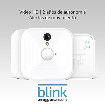Opinión sobre Blink Sistema de cámaras de seguridad (1. Gen) para interiores con detección de movimiento, vídeo HD, 2 años de autonomía y almacenamiento en el Cloud - 2 cámaras