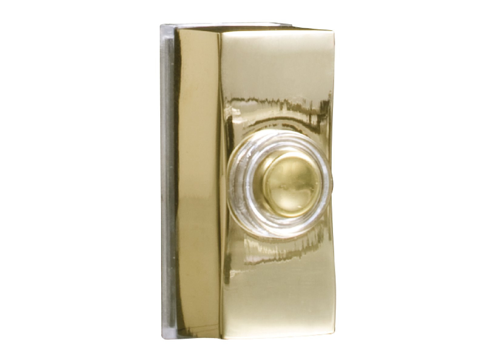 Byron Wired Bell Push Lighted Surface Mounted - Silver/Brass