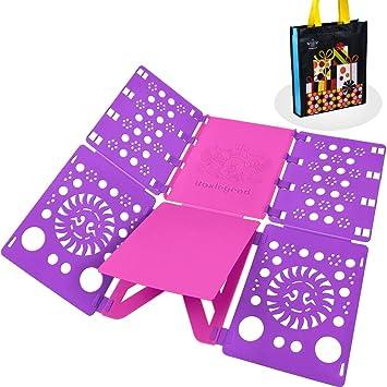 BoxLegend doblador de Camisetas Camisas Ropa Adulto Infantil-Tabla para Doblar Ropa 57 * 70cm Plegar Camisetas Camisas Ropa ... (Púrpura+Rosa): Amazon.es: ...