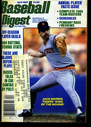 BASEBALL DIGEST APRIL 1985 JACK MORRIS TIGERS EX ()