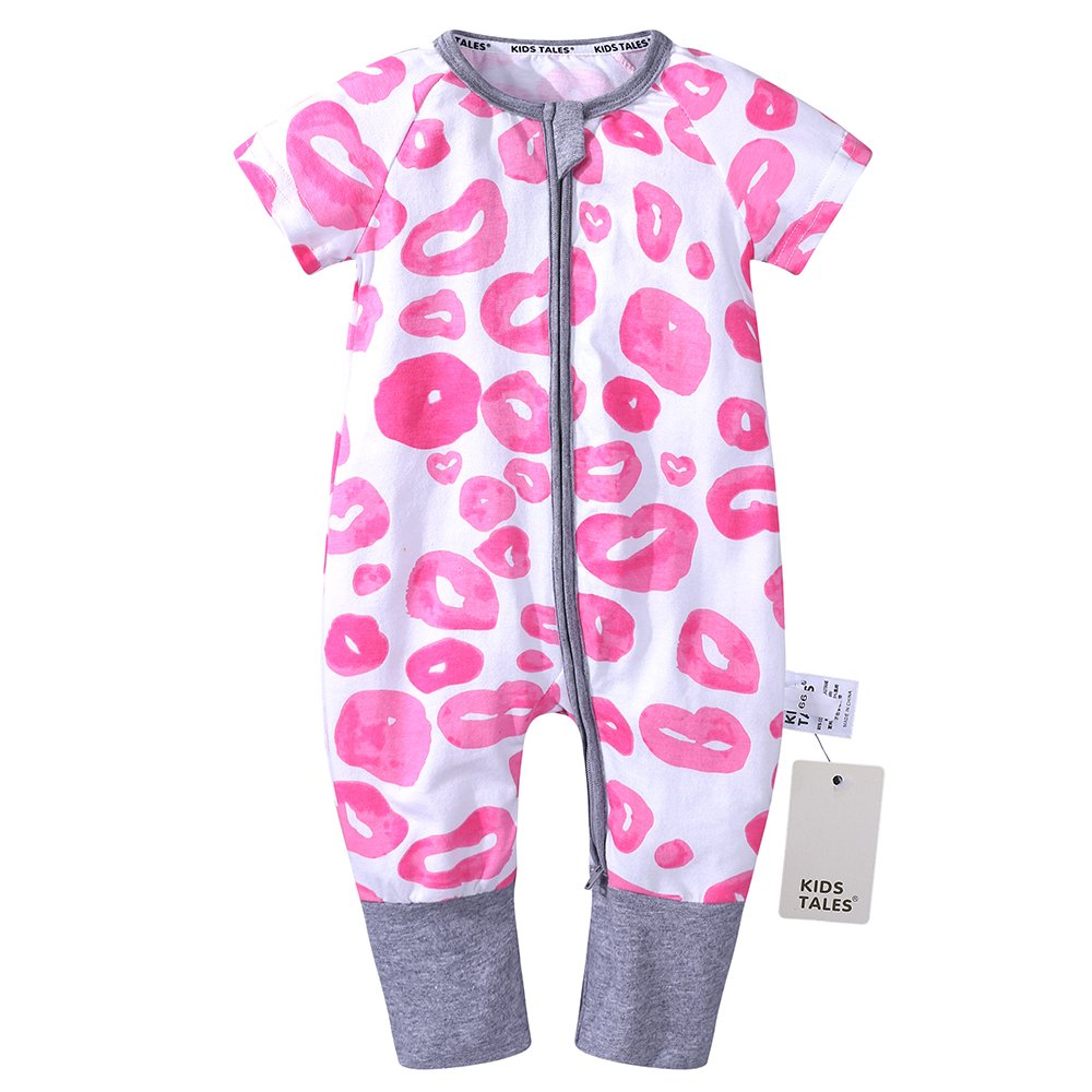 Kids Tales Baby Boys Girls Short Sleeve Pajama Sleeper Romper Size 3M-3T Fuzhou Shang Ku Trade Co. Ltd.