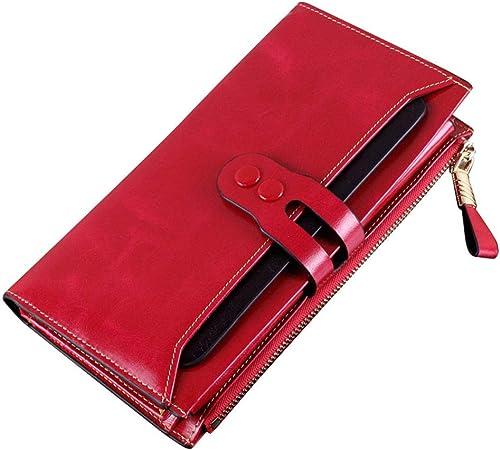 Pelle Portafoglio Donna GRANDE portafoglio portafogli per le donne molto spazio