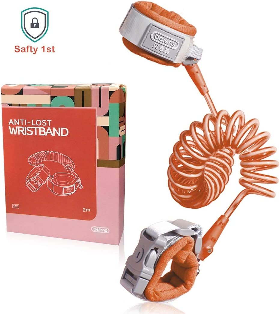 Baby /& Kid,Orange-2M beiens Anti Lost Wrist Link,Child Leash,Safety Harness for Toddler Orange