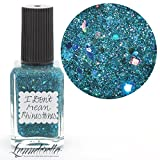 Lynnderella Teal Holographic Micro Glitter Nail Polish—I Don't Mean Rhinestones