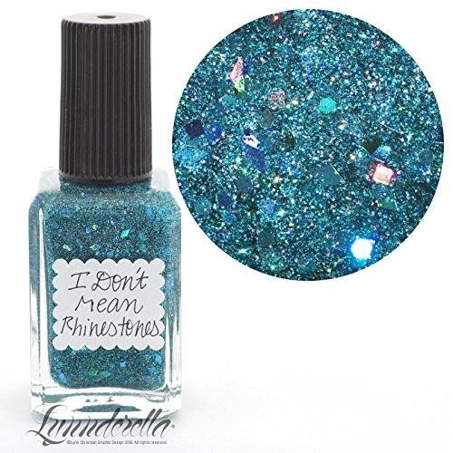 Lynnderella Teal Holographic Micro Glitter Nail Polish—I Don't Mean Rhinestones by Lynnderella
