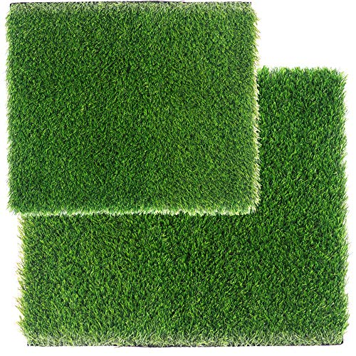 ZestyNest 24X30 Inch Doormat and 24X48 Inch Door Mat - Two Artificial Grass Doormats Bundle with Stain Resistant Technology