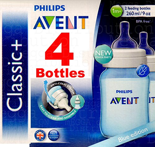 4 x Philips Avent 260 ml/255 Botellas Classic Azul ...