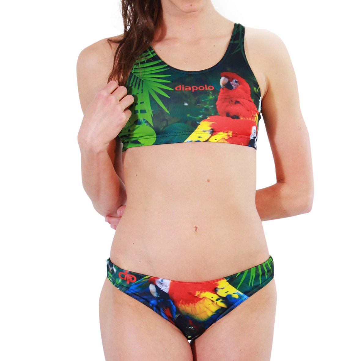Diapolo Parrot Sport-Bikini Zweiteiler aus der Wild Animals Kollektion für Schwimmen Synchronschwimmen Wasserball Thriathlon by