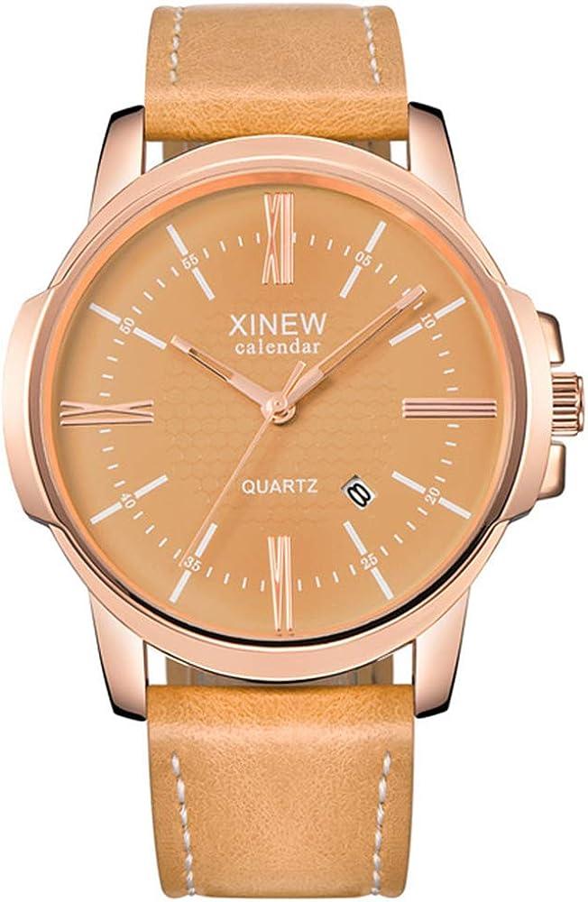 Reloj Deportivo Hombre Reloj de Cuarzo para Hombre con Pulsera Reloj para Hombre Pulsera de Cuero Reloj de Pulsera Reloj para Adultos Relojes para Hombre