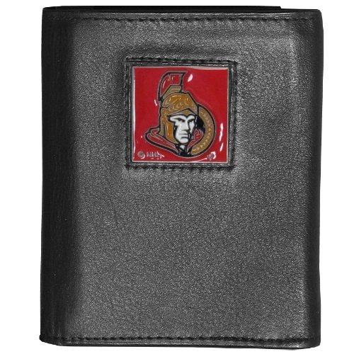 NHL Ottawa Senators Genuine Leather Tri-Fold Wallet