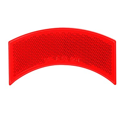Grand General 81205 Red Half-Moon Stick-On Reflector for Trucks, Towing, Trailers, RVs and Buses, 1 Pack: Automotive