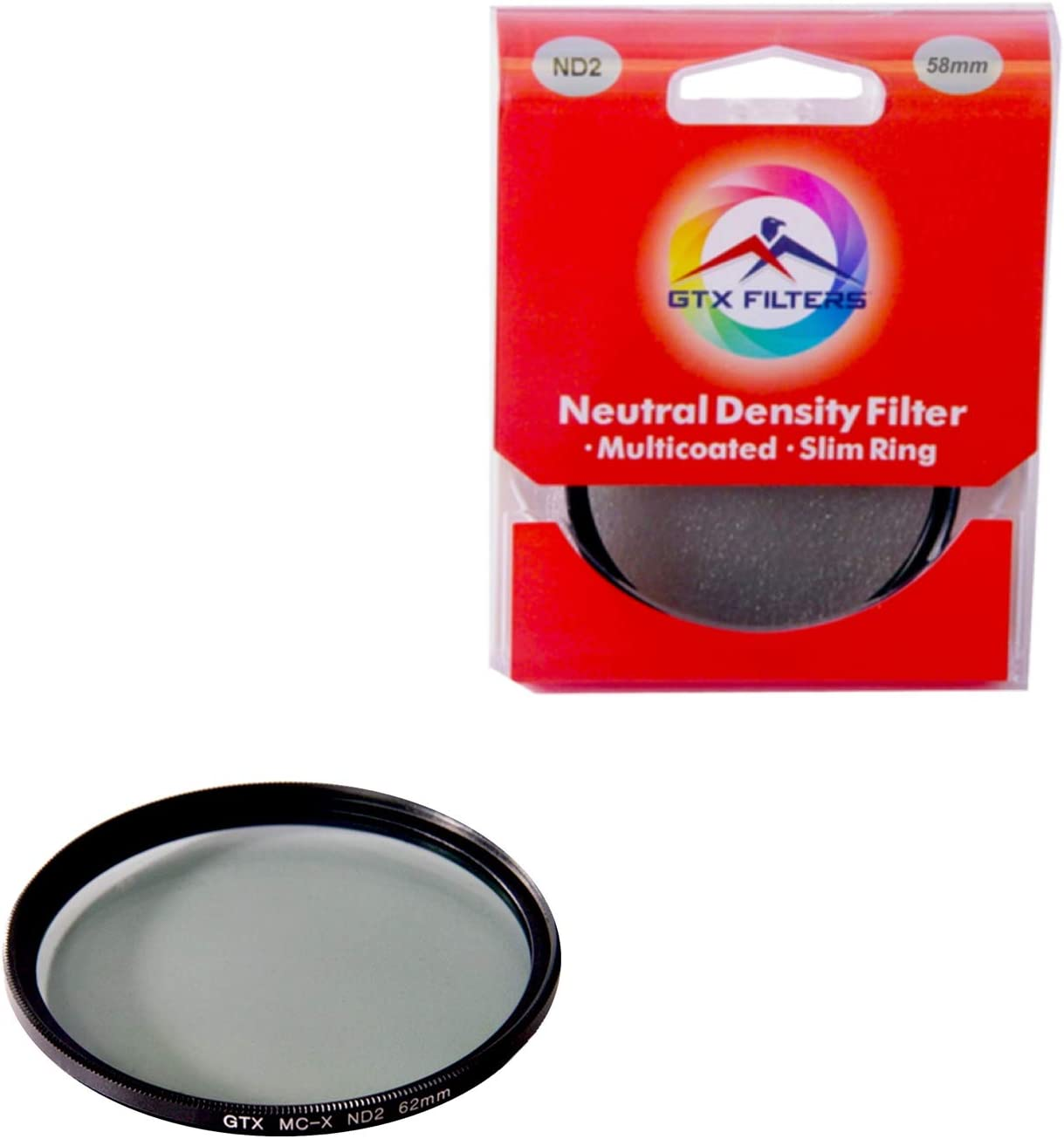 Black GTX FILTERS GF-X//ND277 X Series ND2 77mm Camera Lens Neutral Density Filter