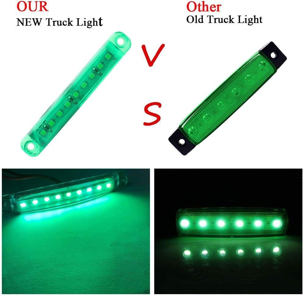 LED-Seitenmarkierungsleuchten Wei/ß 10 St/ücke Auto Externes Licht 9 SMD LED Seitenmarkierungs Anzeigelampe Vorne Hinten Seitenlicht Positionslampen 12 V f/ür Auto