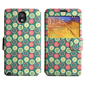 AADes Scratchproof PU Leather Flip Stand Case Samsung Galaxy Note 3 III ( Cupcake Tops )