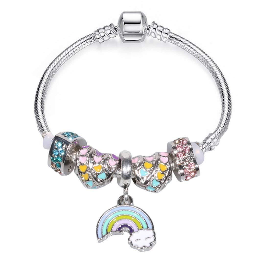 QWERST Bracelet Arco Iris De Amor Encanto Pulsera con Bonita ...